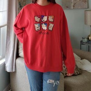 Vintage Winnie the Pooh Red Crewneck Sweatshirt